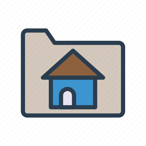 archive, document, files, folder, house icon