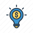 bulb, creativity, idea, lamp, light icon