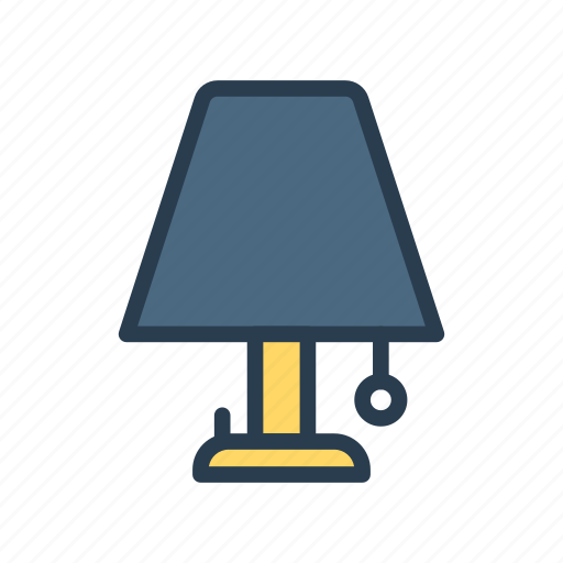 bulb, electric, lamp, light, table icon