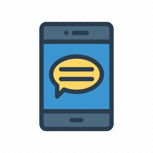 chat, message, mobile, phone, text icon