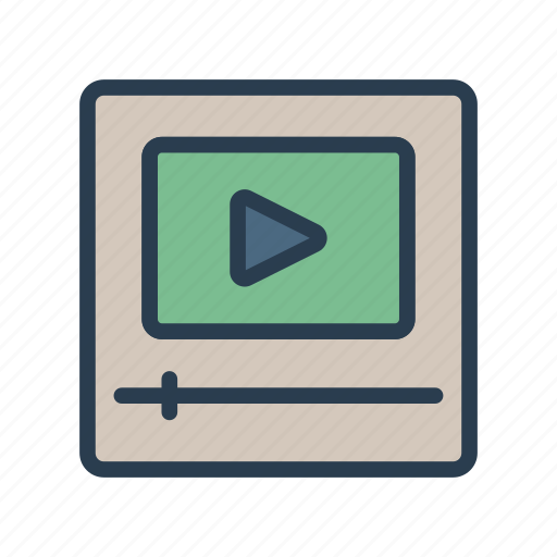 media, player, song, streaming, video icon