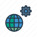 configure, global, preference, setting, world icon