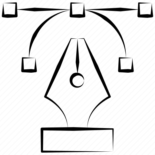 graphic, illustration, pen icon
