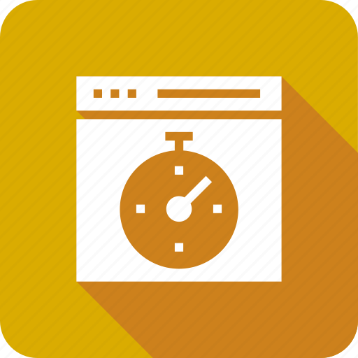 browser, speed, speedometer, stopwatch, web icon