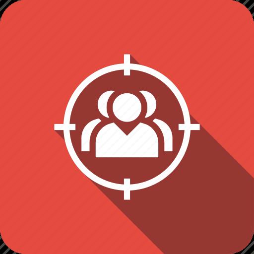 business, customer, marketing, target, user icon