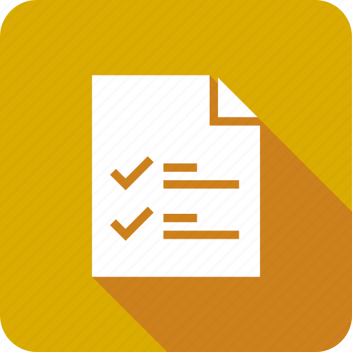 check, document, file, list, mark, page icon