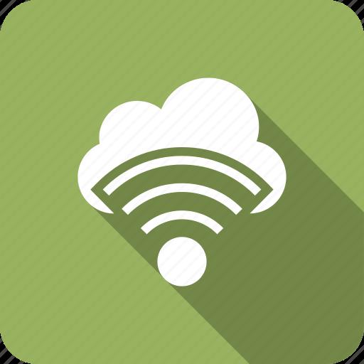 cloud, free, internet, technology, wifi icon