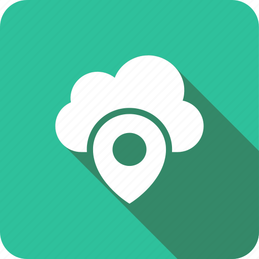 cloud, gps, location, map, server, up icon