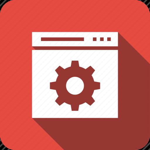 cog, preferences, setting, web, webpage, website icon