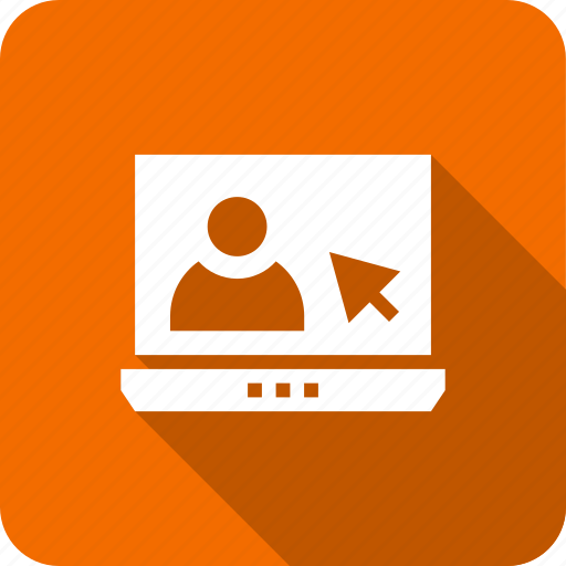 computer, employee, engineer, ico, laptop, user icon