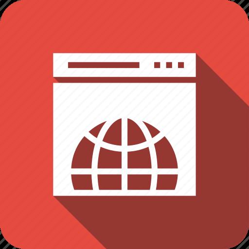 browsing, connectivity, global, globe, web, webpage icon