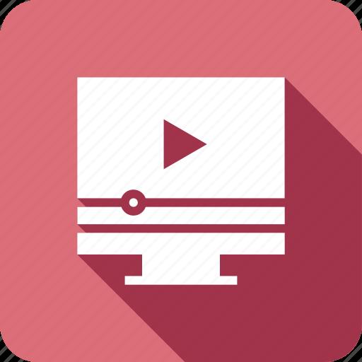 device, imac, monitor, play, youtube icon