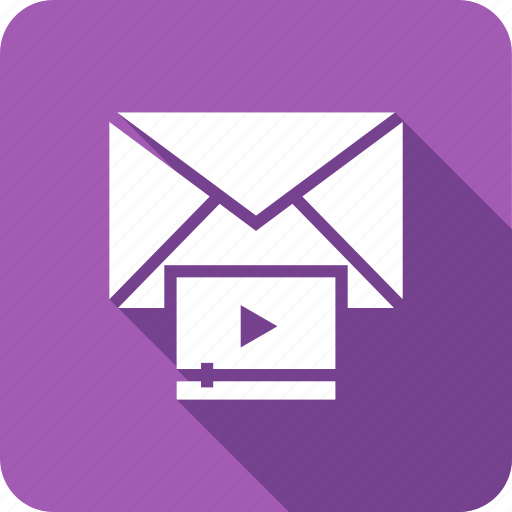 email, envelope, mail, play, video icon