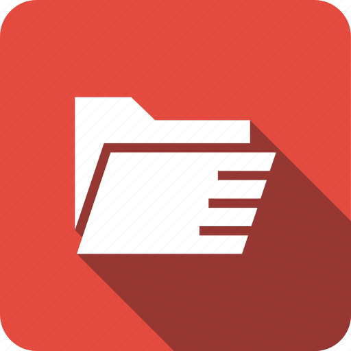 envelope, files, folder, ico, interface, office icon
