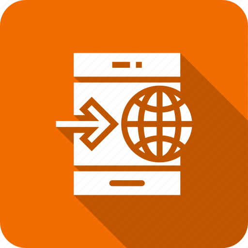 global, internet, mobile, online, through icon