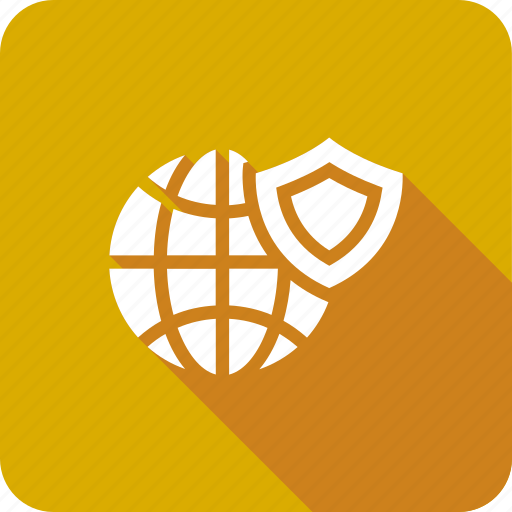 globe, ico, secure, security, shield, technology, world icon