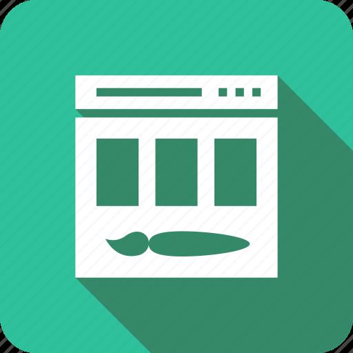 design, graphic, ico, paintbrush, web icon