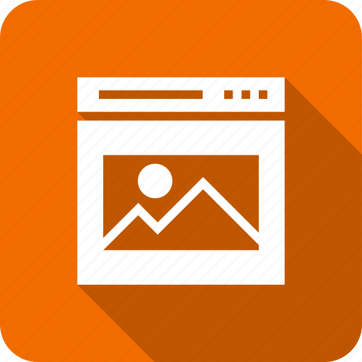 image, landscape, photo, picture, web, webpage icon