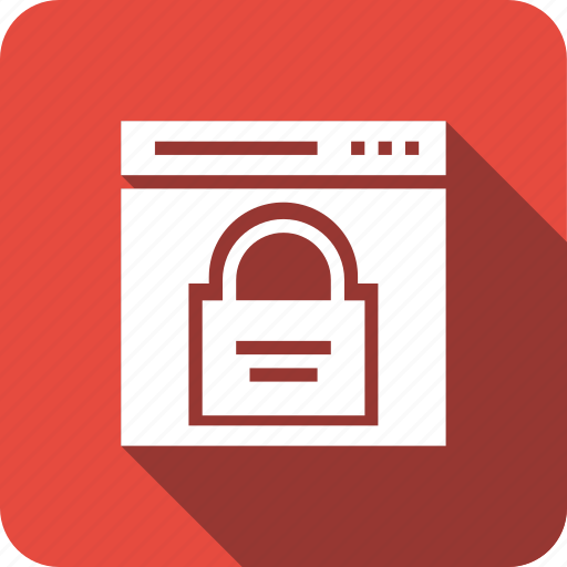 lock, page, security, web, webpage, website icon