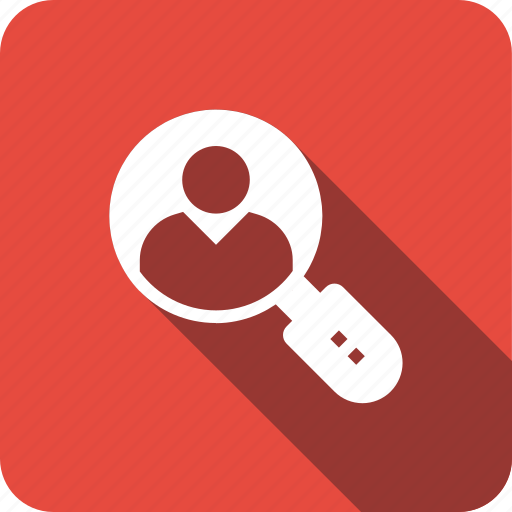 glass, magnifying, people, search, searchicons, user, users icon