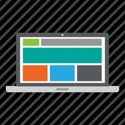 computer, internet, laptop, responsive design, web, web design, website icon