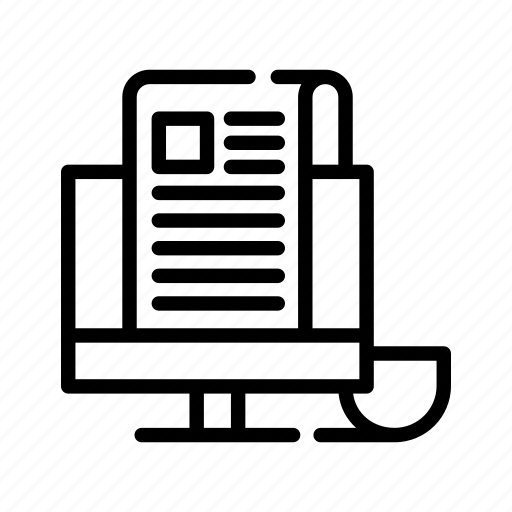 computer, document, pc, plan, programming, web icon