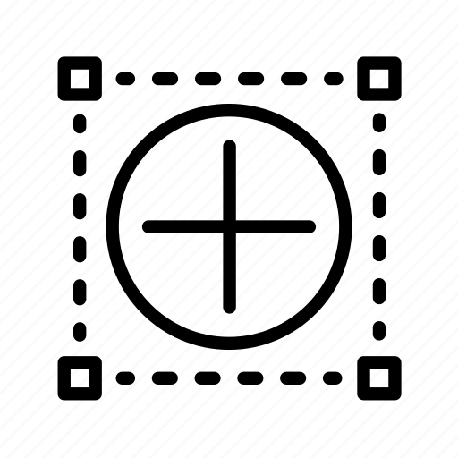 crop, dot, photoshop, plus, scale, tool, web icon