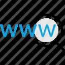 search, web, wide, world icon