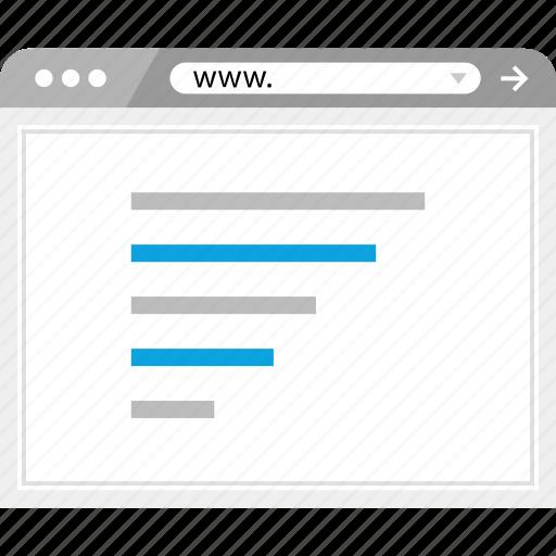 analytics, data, seo, web icon