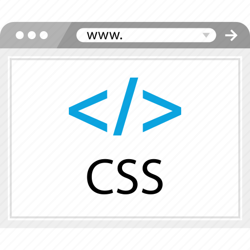 cascading, code, css, www icon