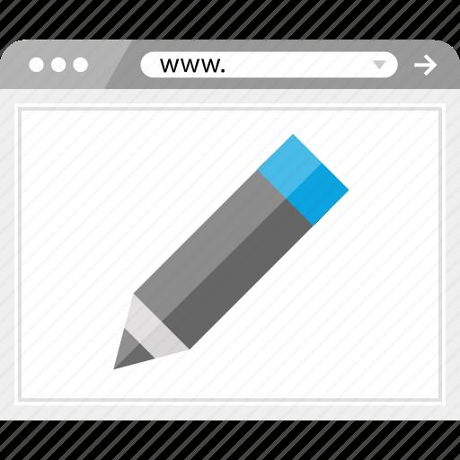 browser, create, edit, pencil icon