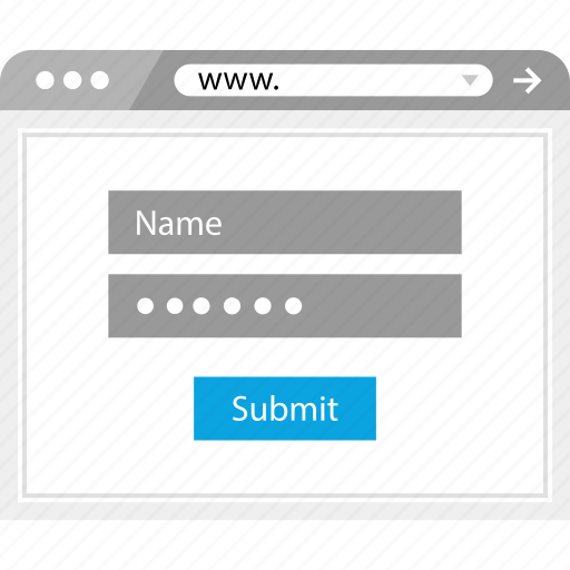 form, login, name, password icon