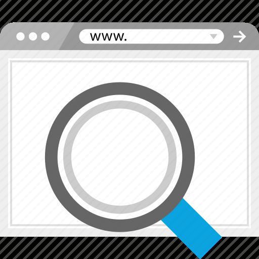 explore, find, look, search icon
