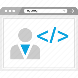 code, coding, developer, web icon