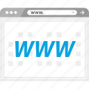 browser, internet, online, web, wide, world, www icon