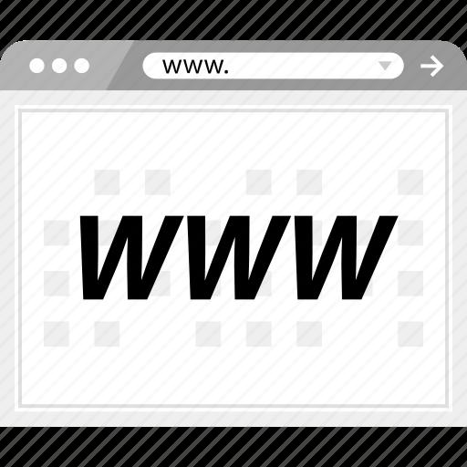 design, internet, website, www icon