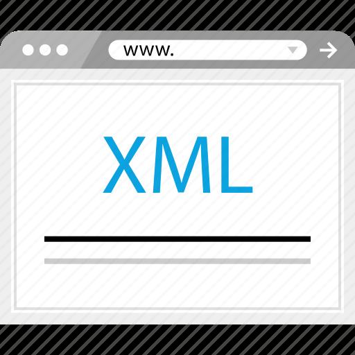 development, language, script, xml icon