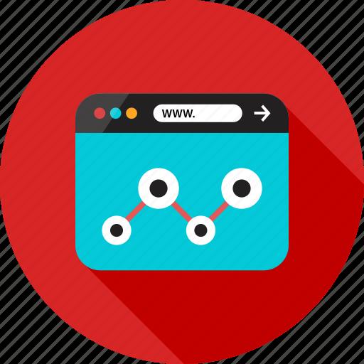 analytics, analyze, browser, data, online, share, web icon
