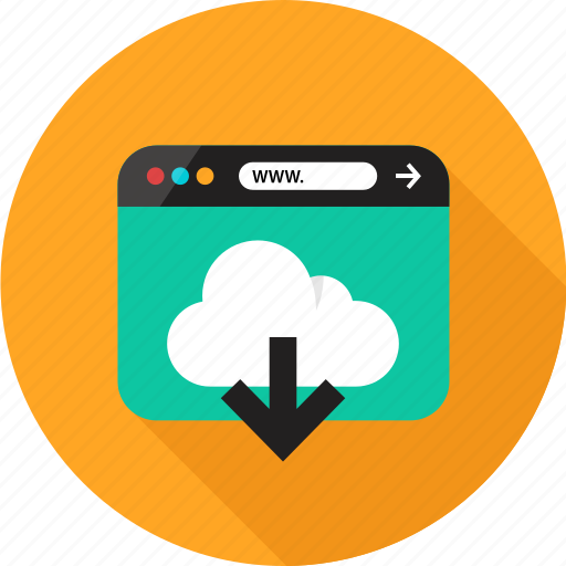 Arrow, browser, cloud, down, download, online, web icon - Download on Iconfinder