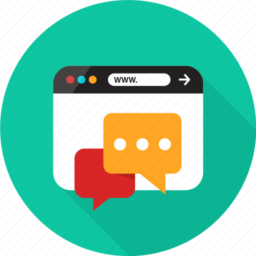 browser, bubble, chat, conversation, online, sms, web icon