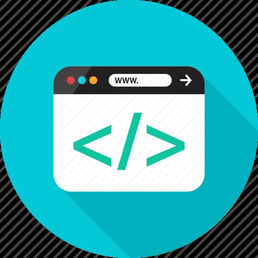browser, code, coding, development, online, web icon