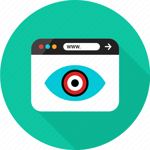 browser, eye, find, look, online, search, web icon