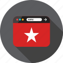 bookmark, browser, favorite, online, special, star, web icon