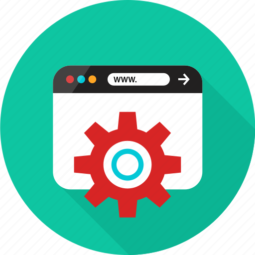 browser, gear, online, options, rotate, web icon