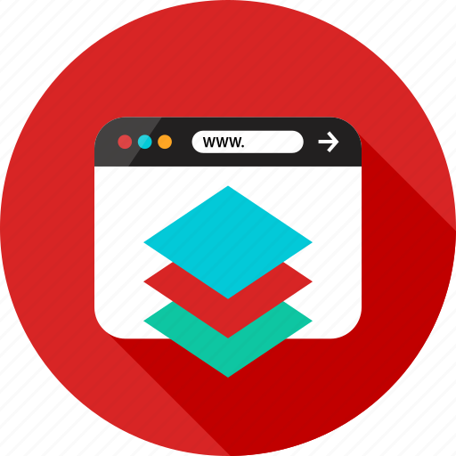 Browser, cube, layer, layers, online, server, web icon - Download on Iconfinder