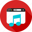 browser, listen, music, online, play, sign, web icon