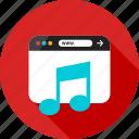 browser, listen, music, online, play, sign, web