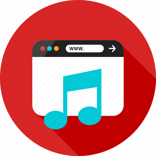 Browser, listen, music, online, play, sign, web icon - Download on Iconfinder