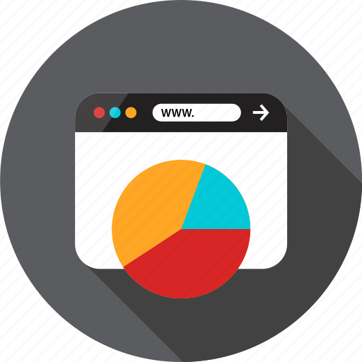 Browser, chart, graph, online, pie, report, web icon - Download on Iconfinder