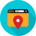 browser, direction, gps, location, online, pin, web